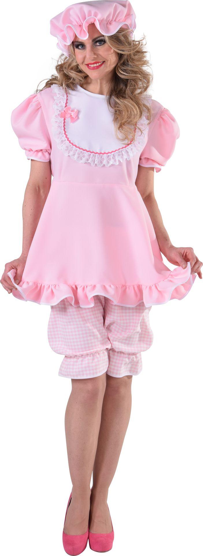 Roze baby kostuum