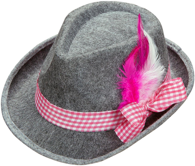 Roze beierse fedora