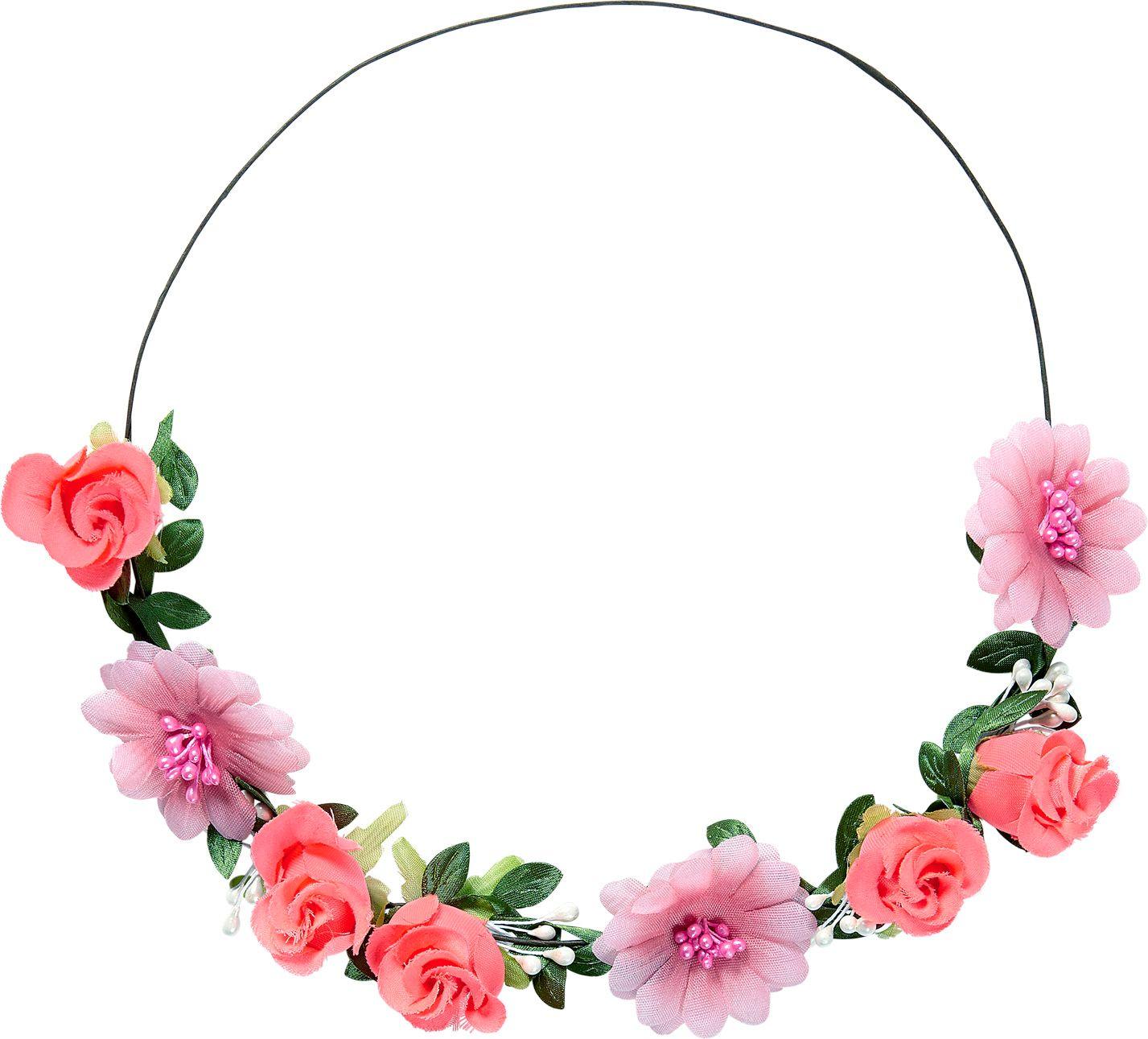 Roze bloemen hoofdband