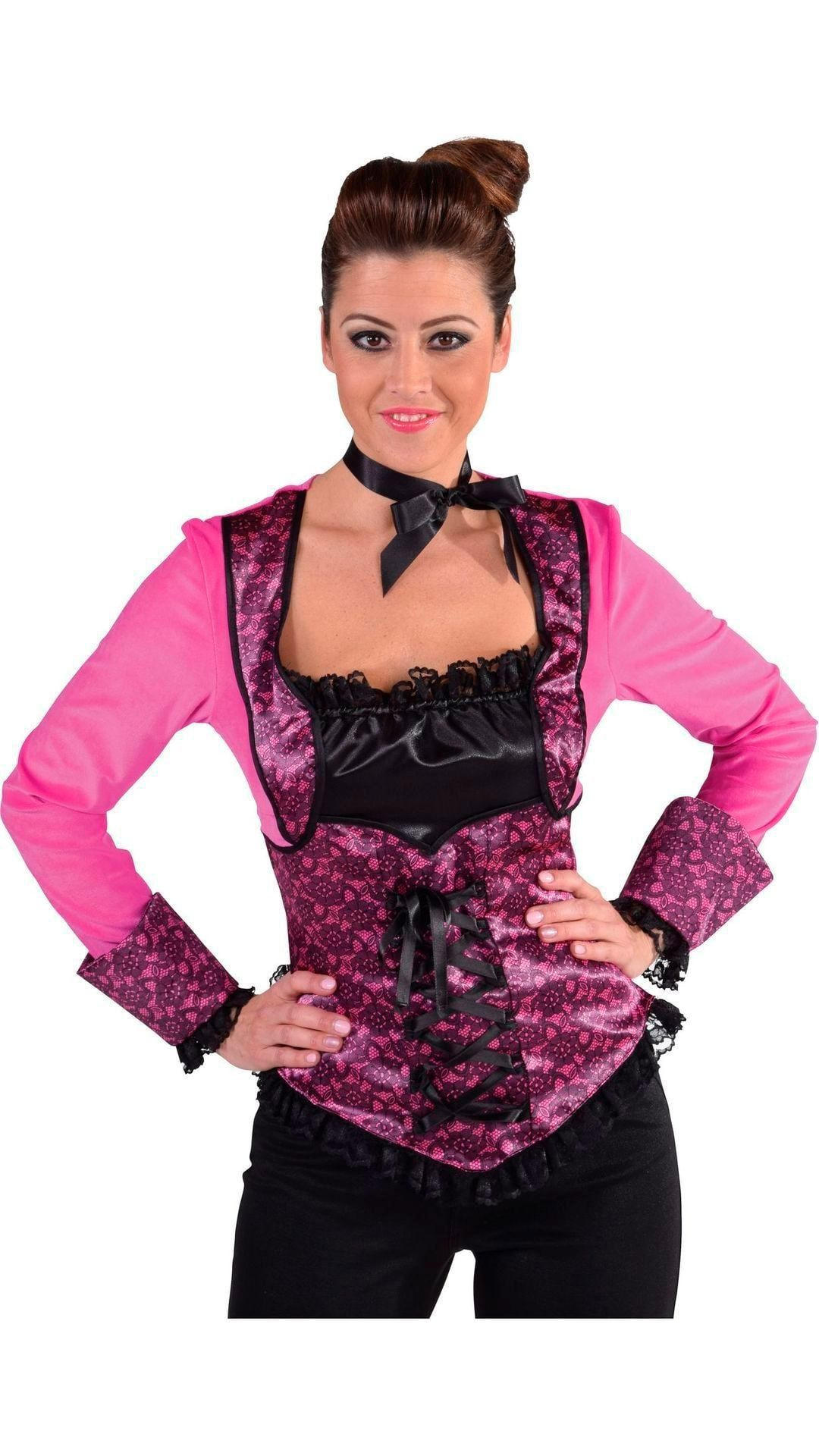 Roze burlesque top