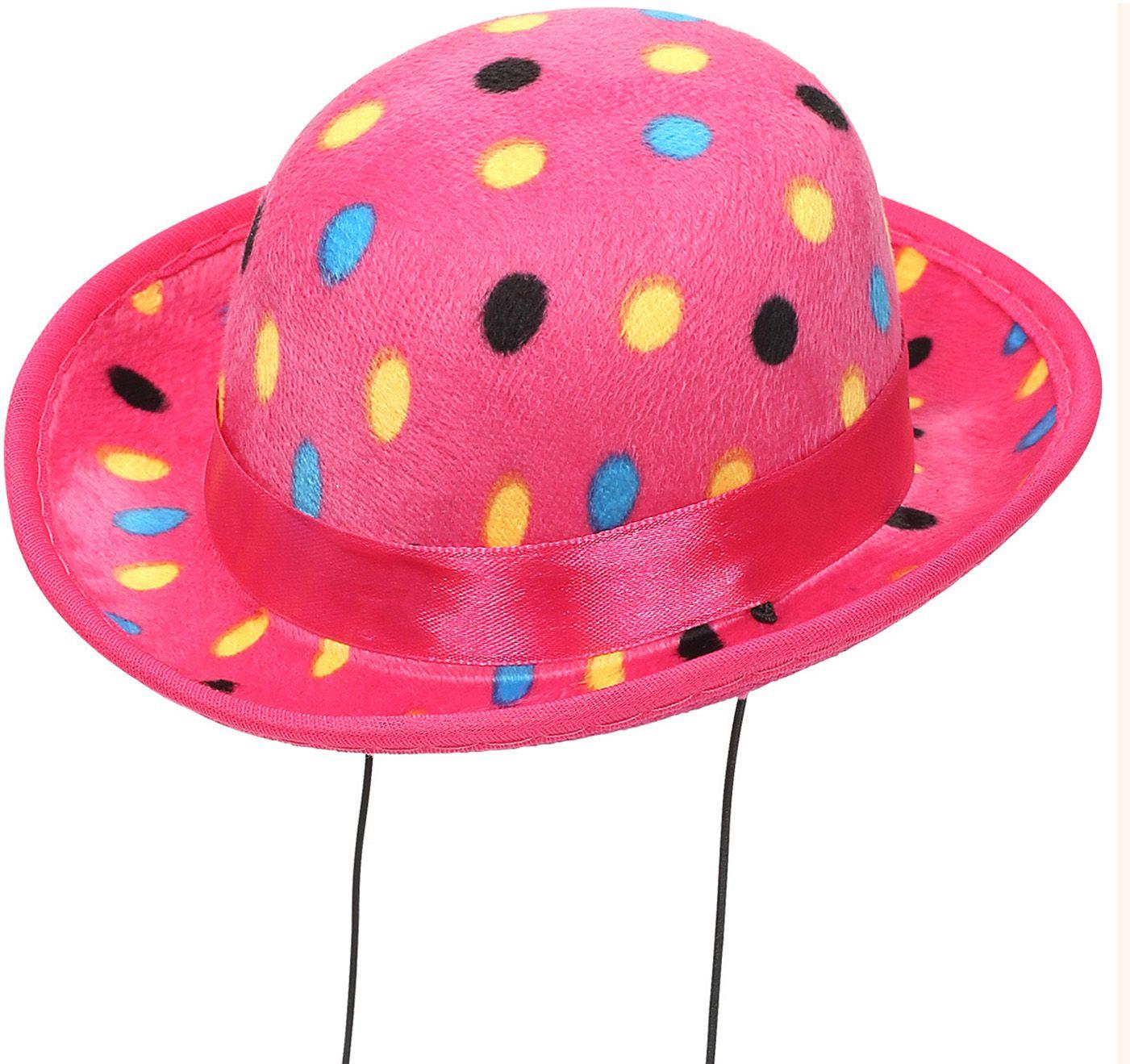Roze clowns hoed