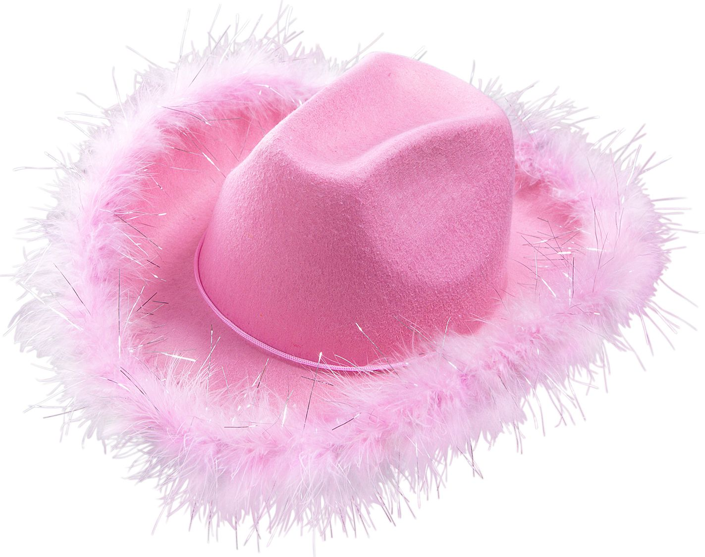 Roze cowgirl pluche hoed