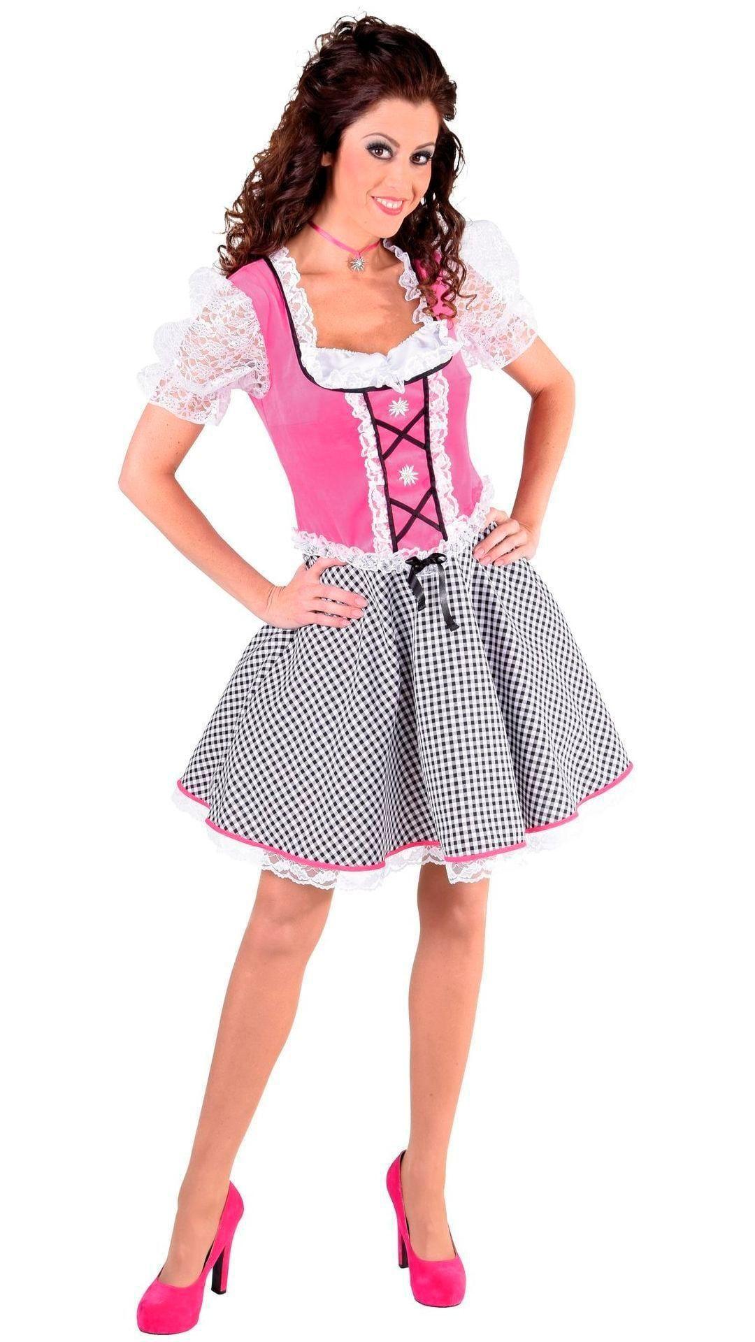 Roze dirndl oktoberfest dames