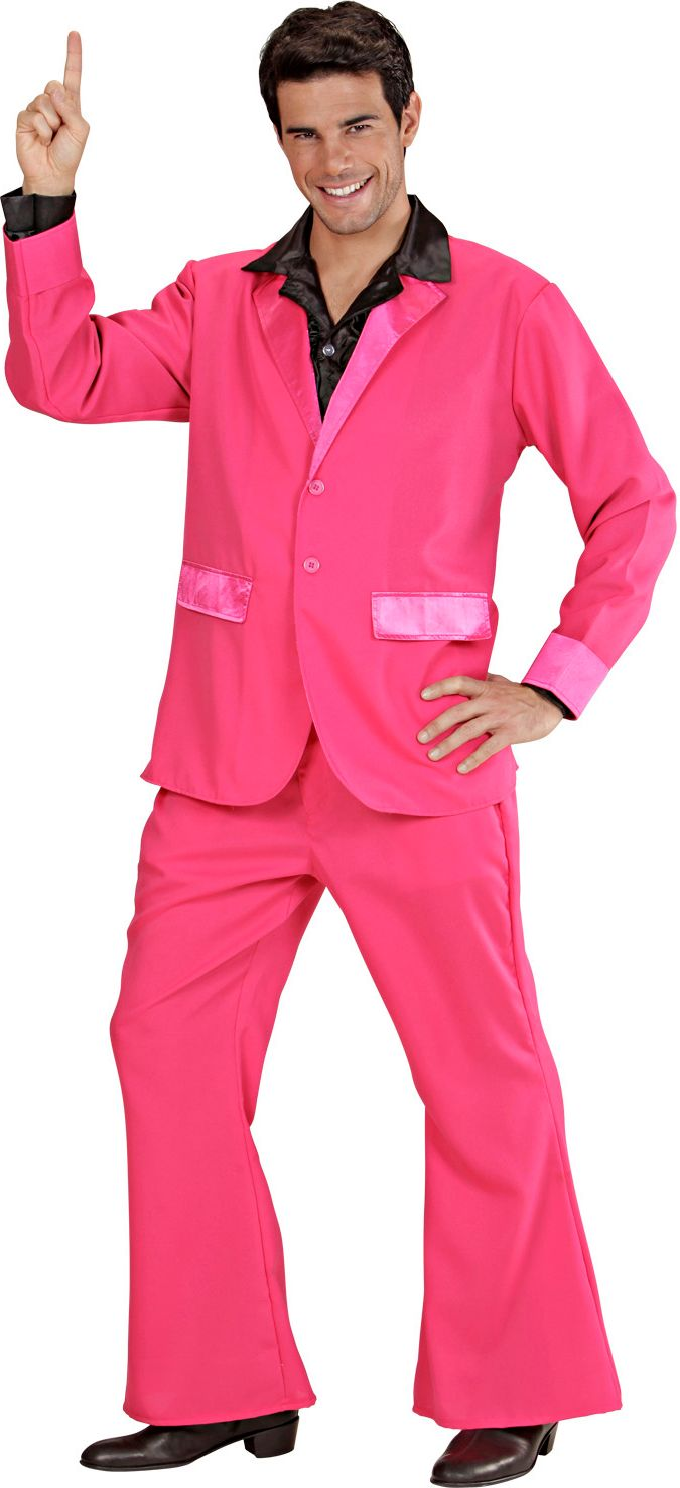 Roze disco kostuum