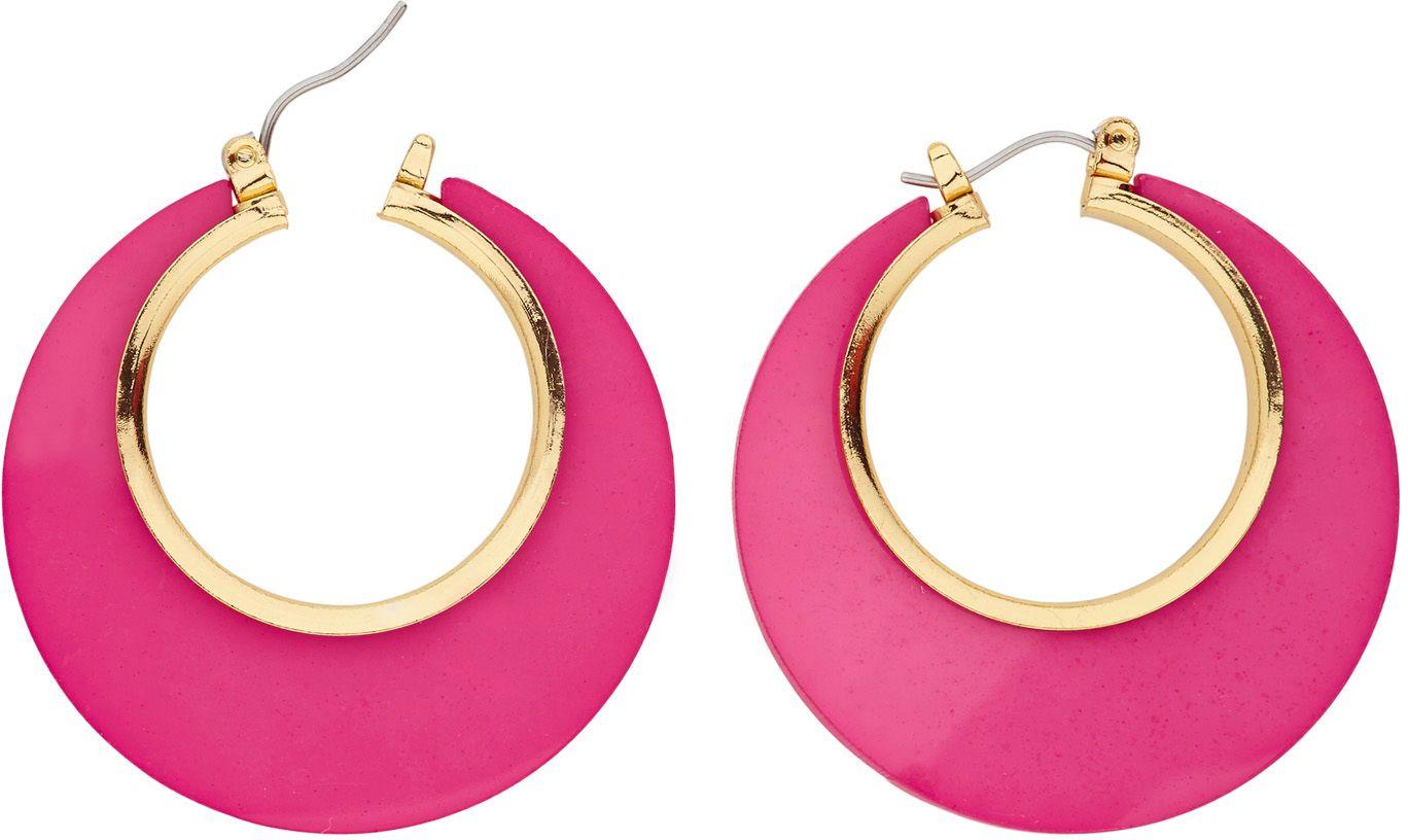 Roze disco oorbellen