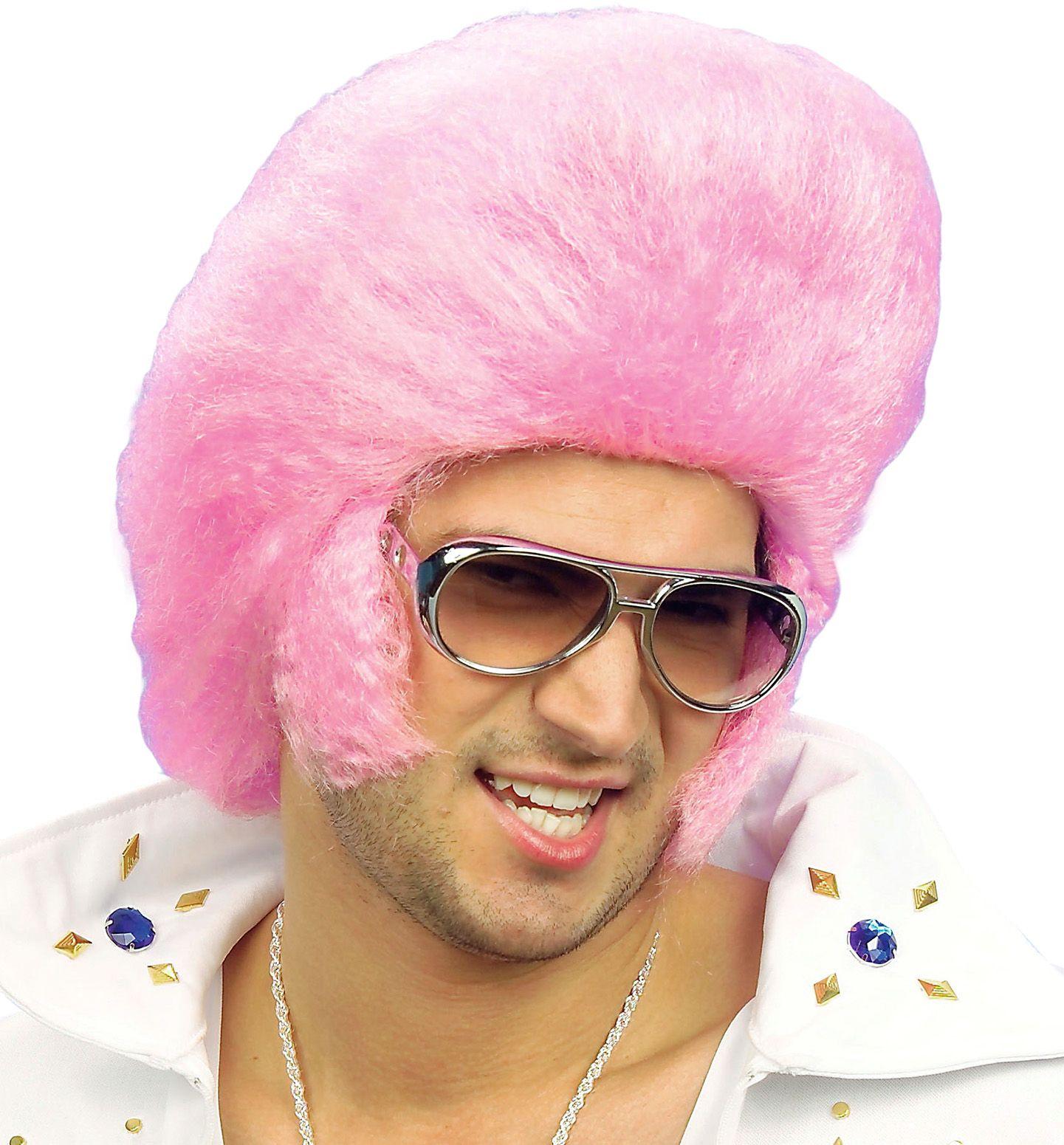Roze Elvis pruik