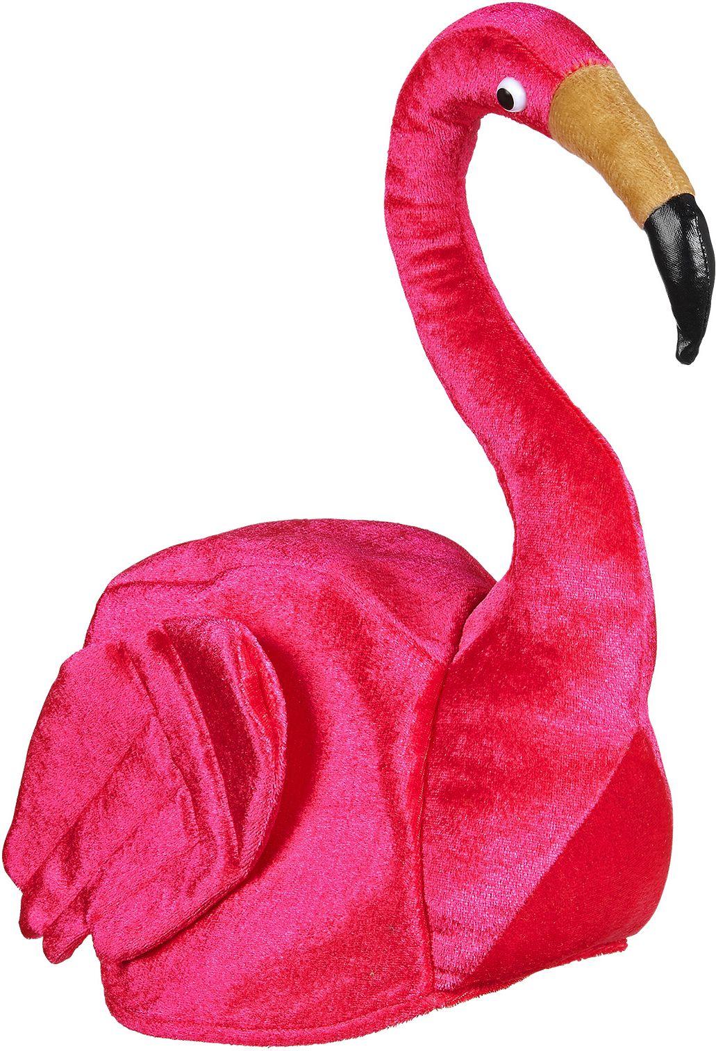 Roze Flamingo hoed