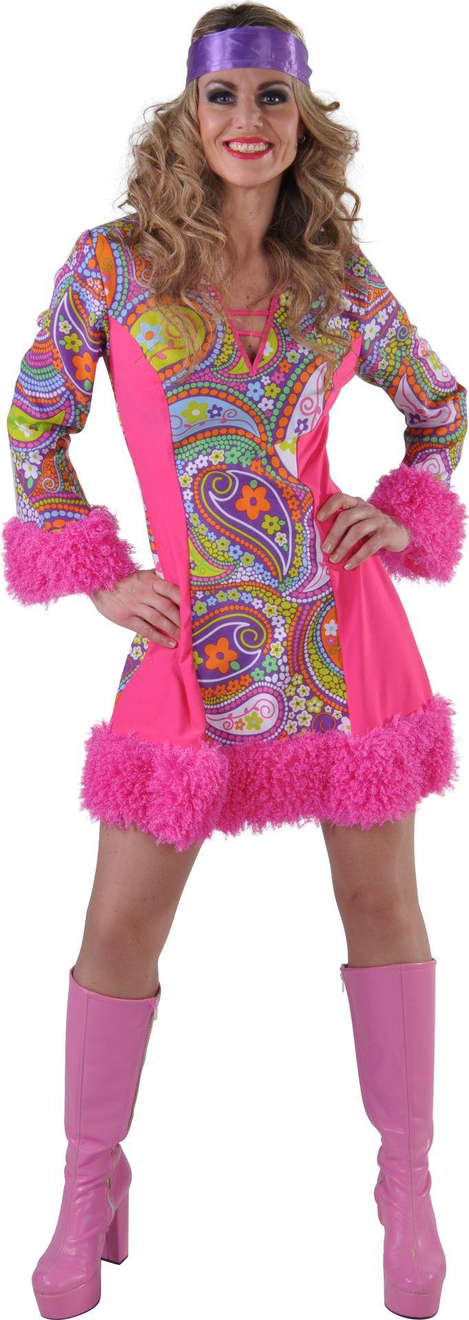 Roze funky jurk