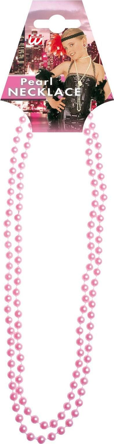 Roze glamour parelketting