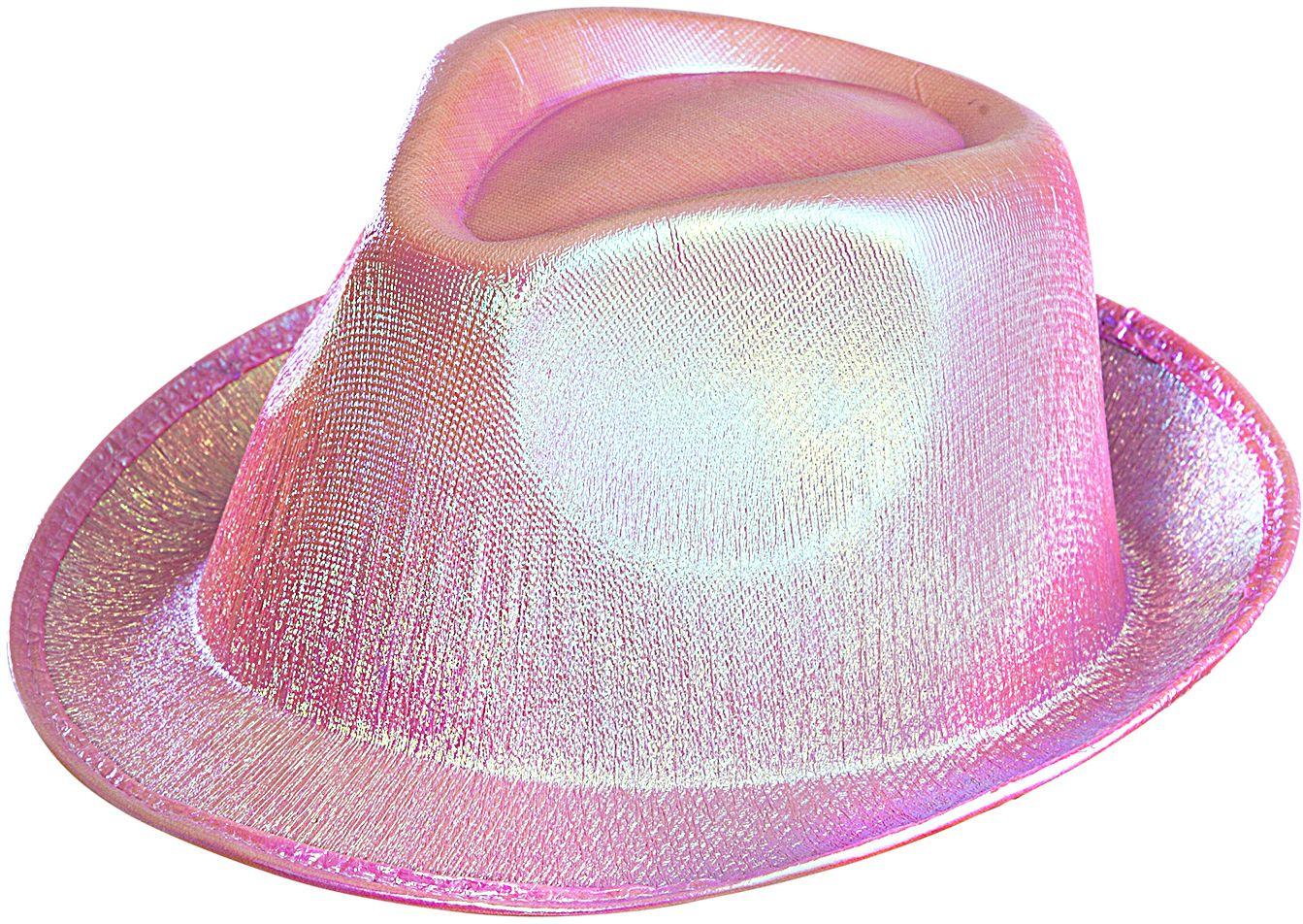 Roze glitter fedora