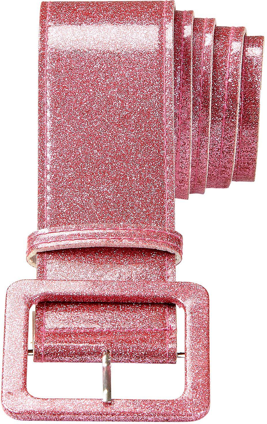Roze glitter riem dames