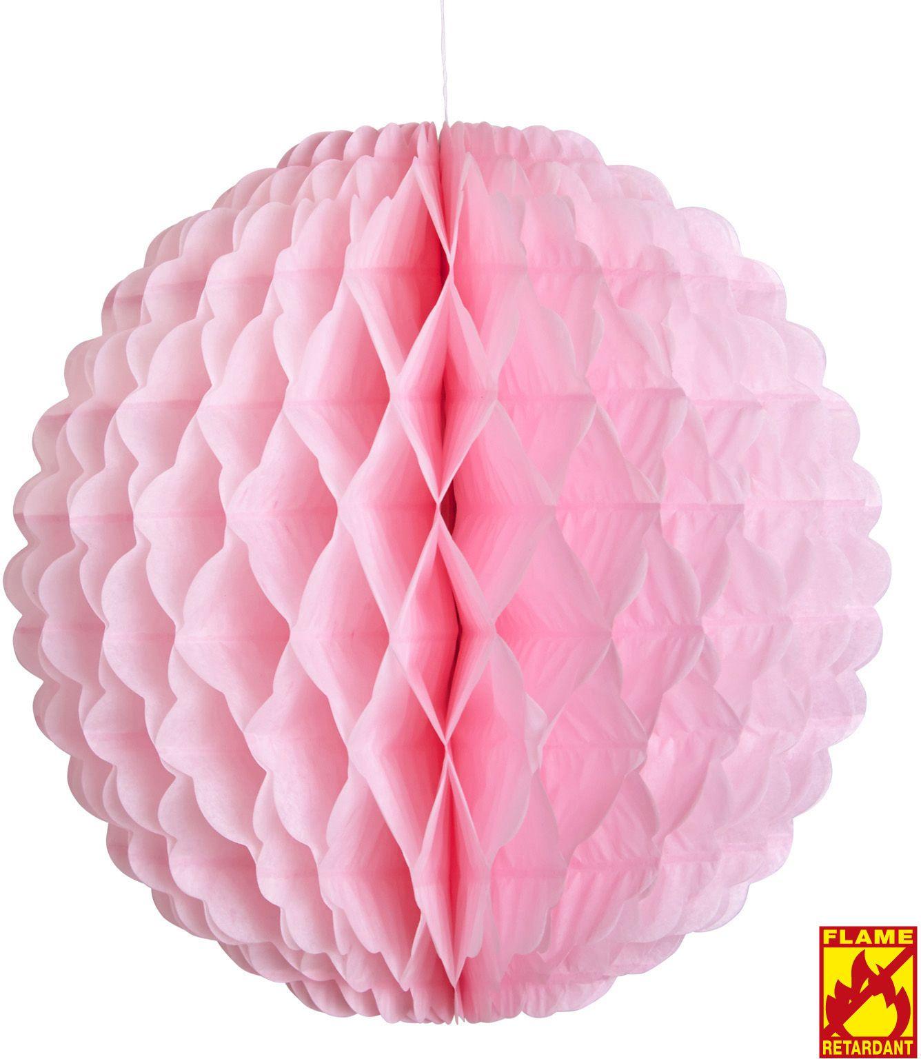 Roze honingraat bal