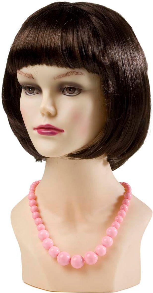 Roze jaren 50 parelketting