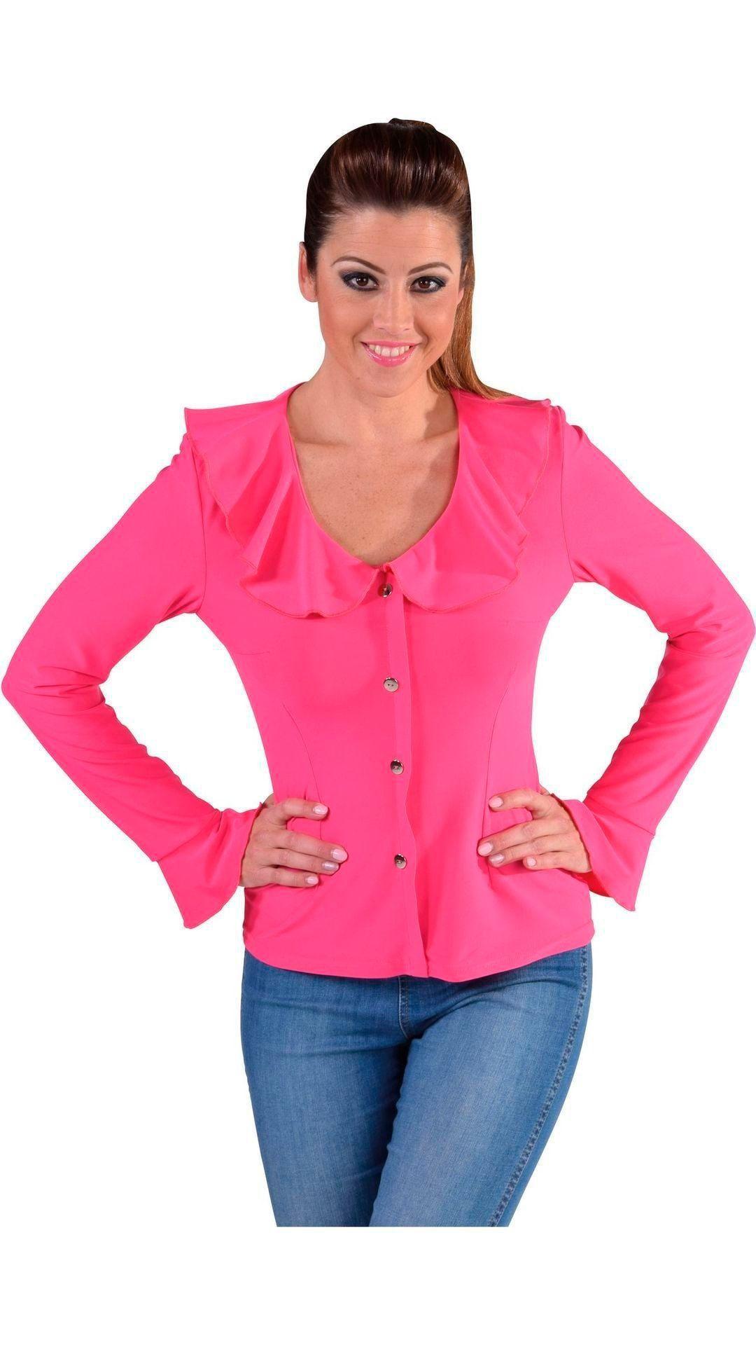 Roze jersey blouse