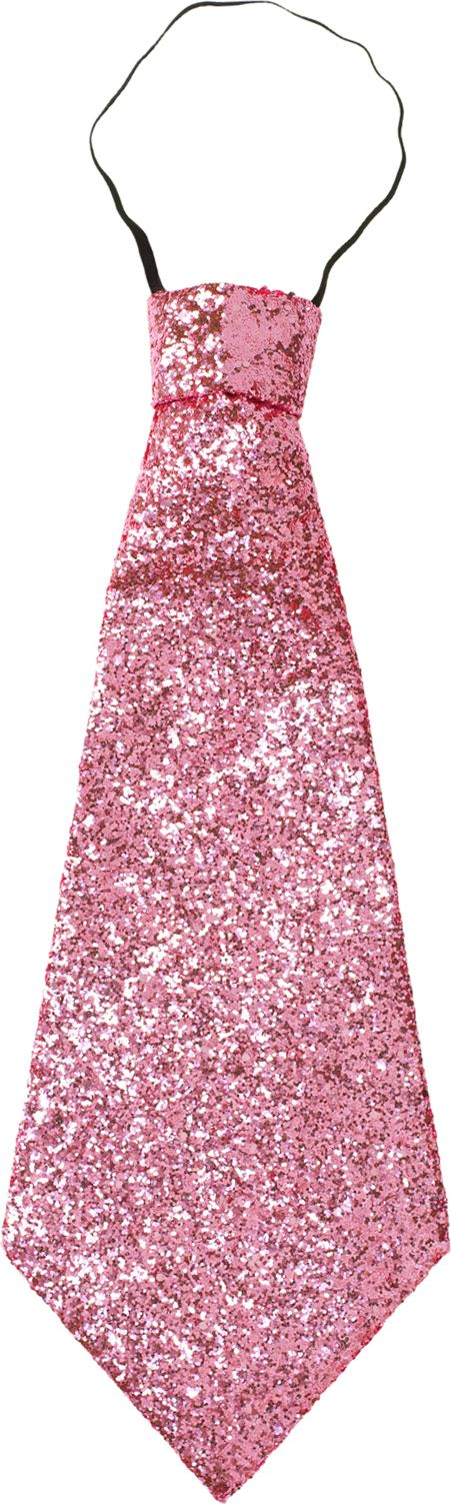 Roze lurex stropdas