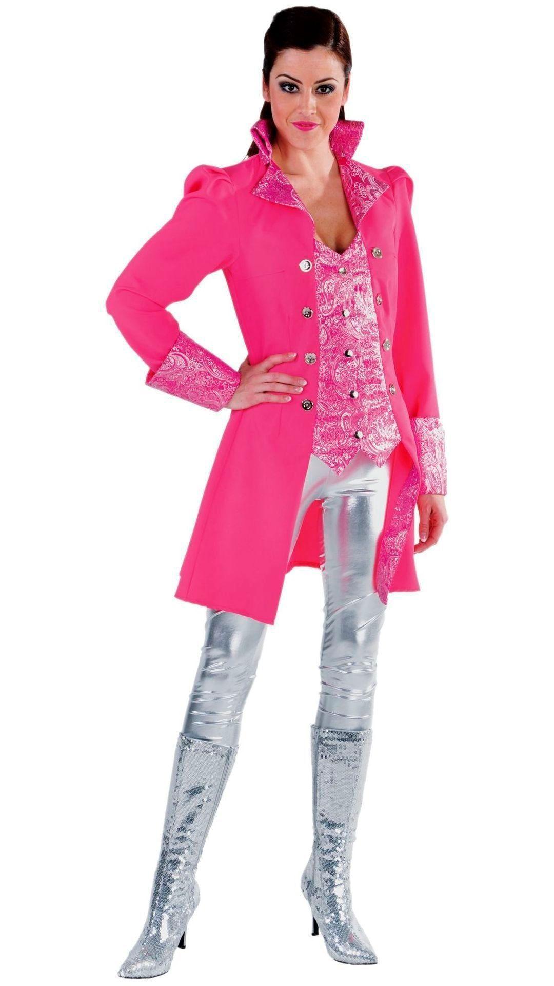 Roze markiezin jas