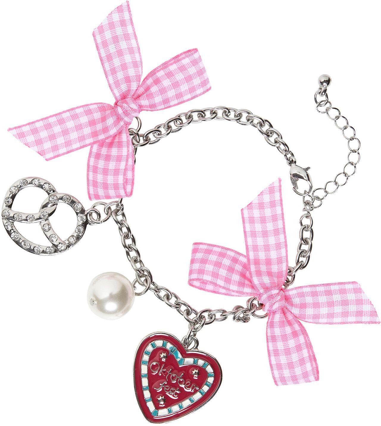 Roze oktoberfest armband