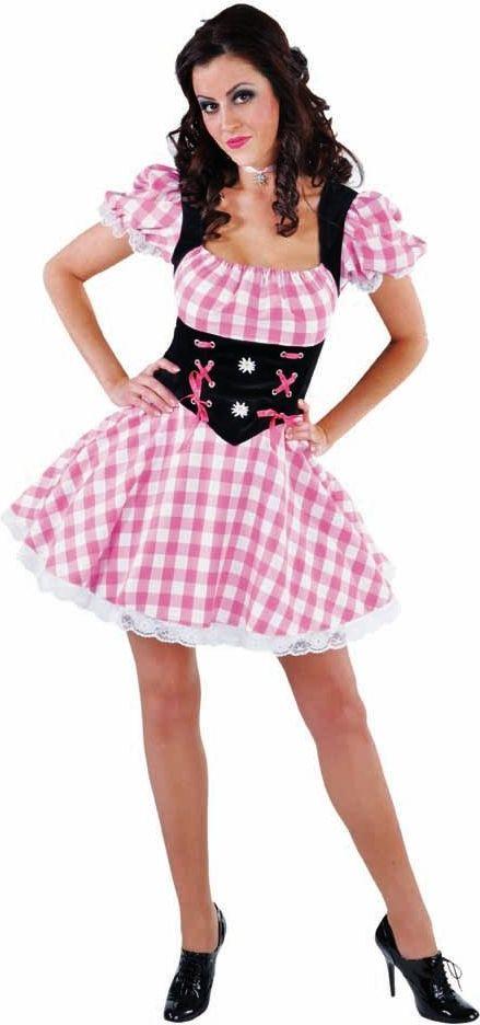 Roze oktoberfest jurkje dames