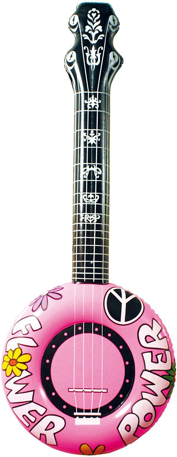 Roze opblaasbare banjo