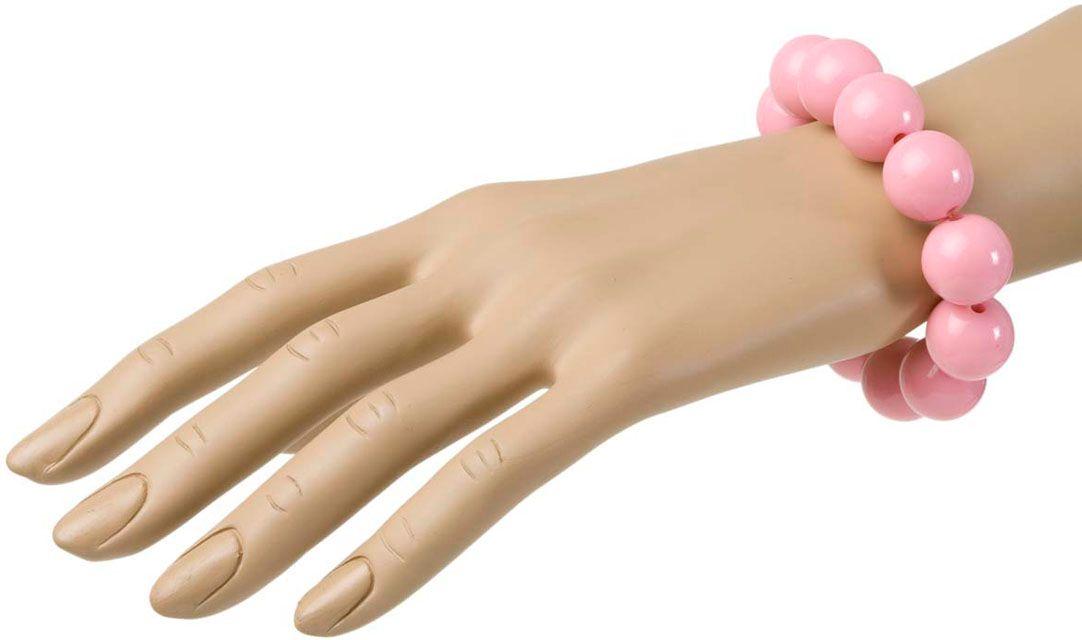 Roze parel armband jaren 50
