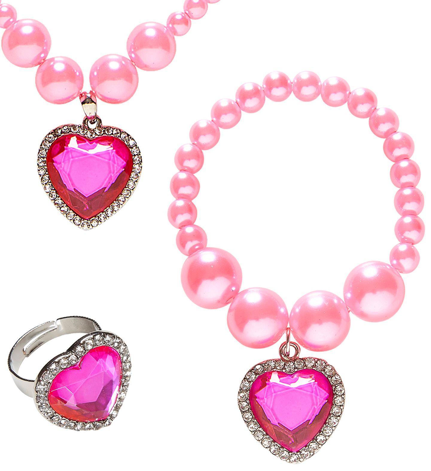Roze parel sieraden set