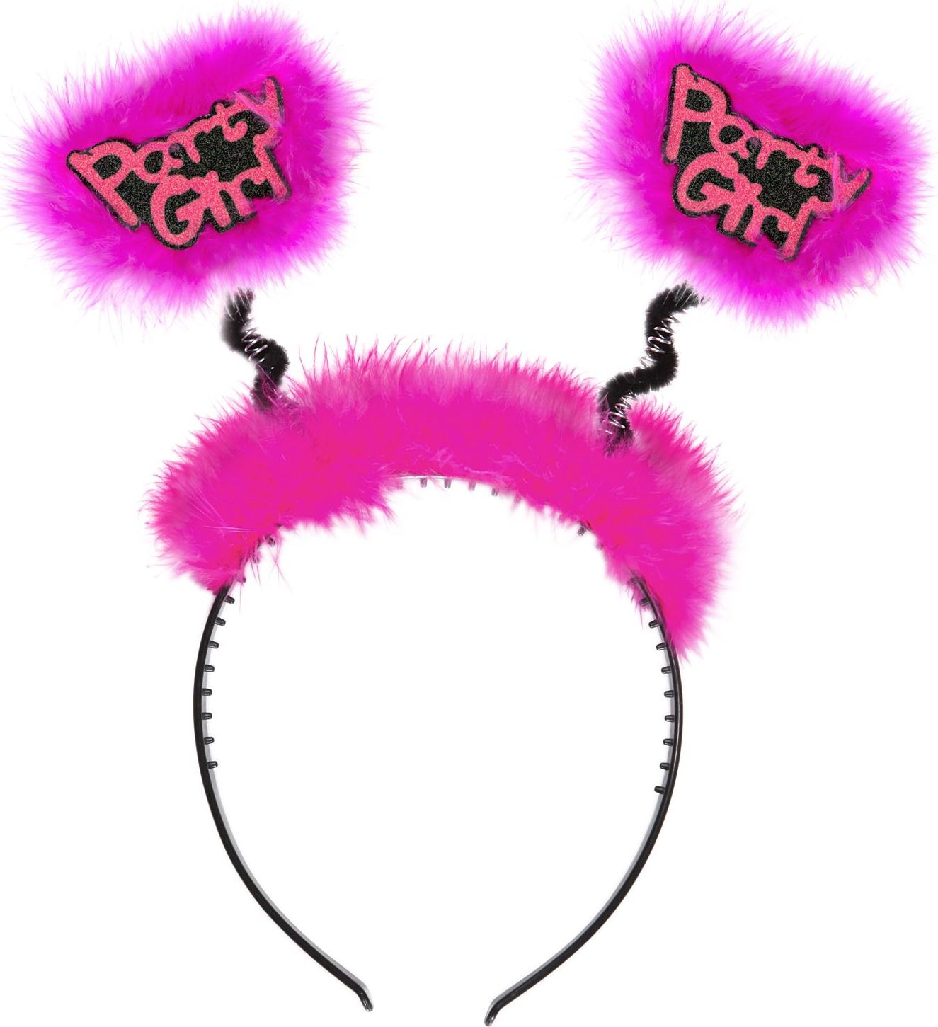 Roze party girl hoofdband