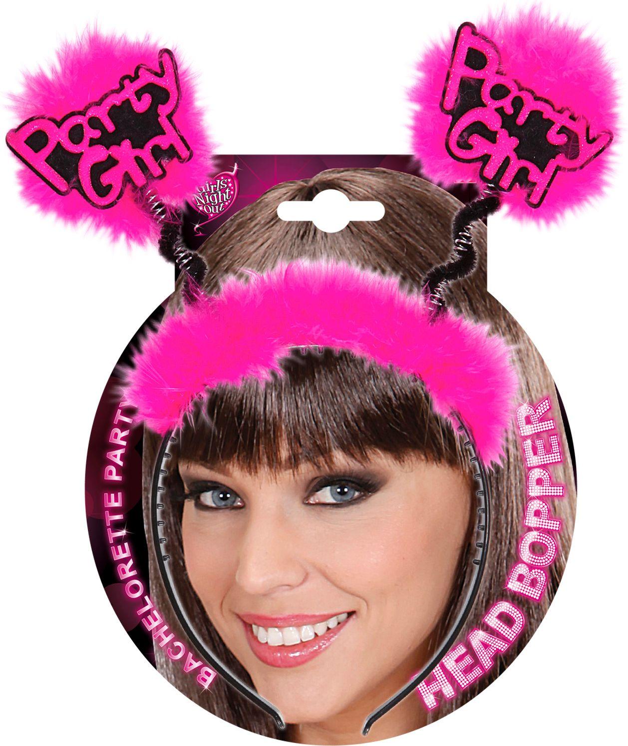 Roze party girl hoofdband