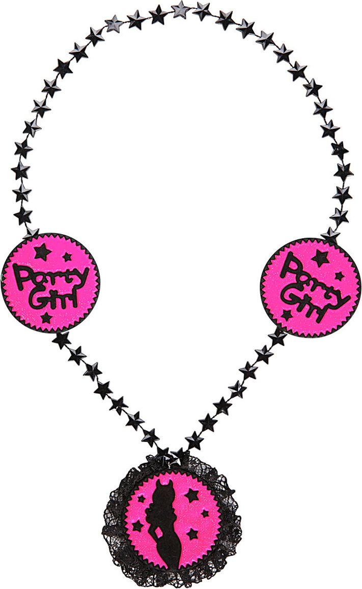 Roze party girl ketting