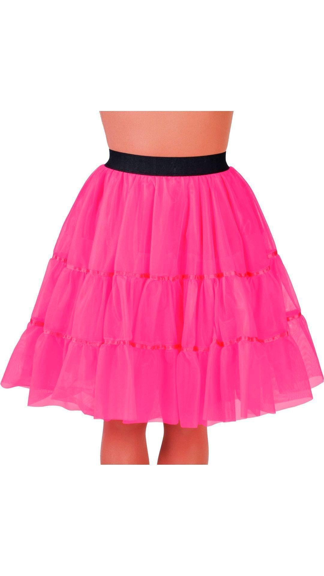 Roze petticoat middel lang dames