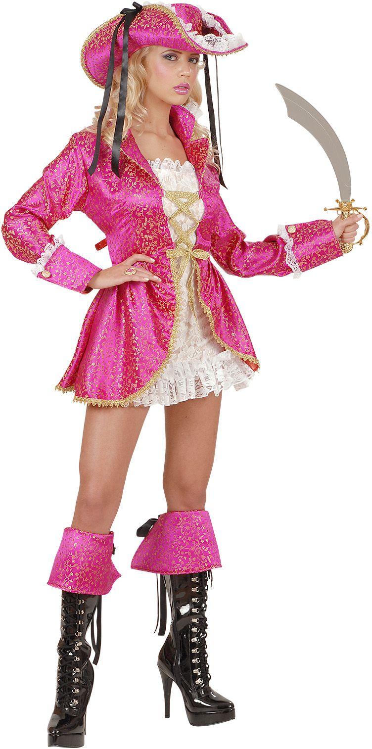 Roze piratenkapitein dames