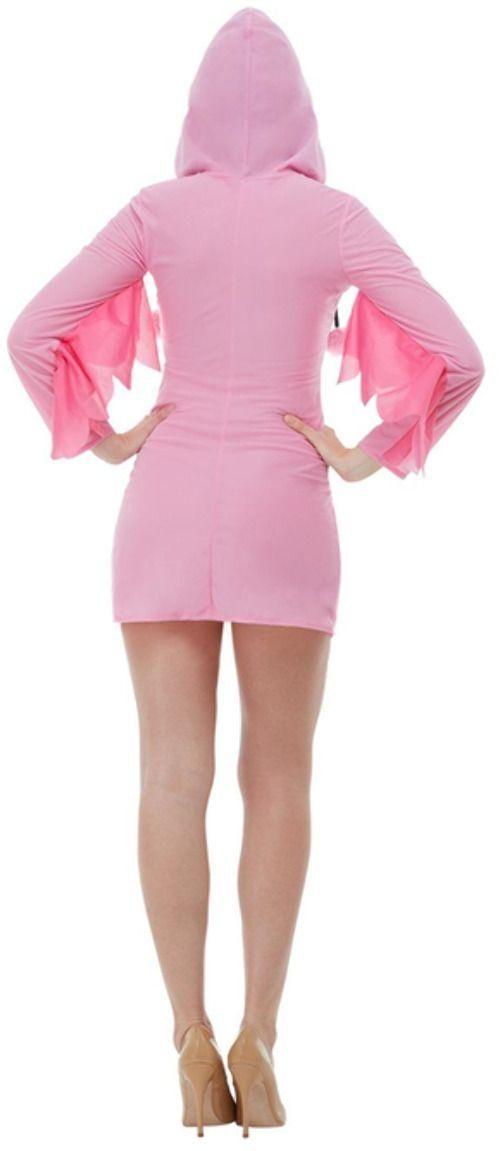 Roze pluche flamingo jurkje