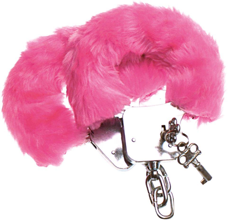 Roze pluche handboeien