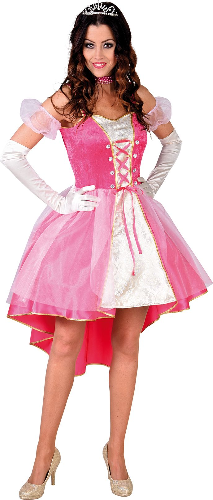 Roze prinses jurk dames