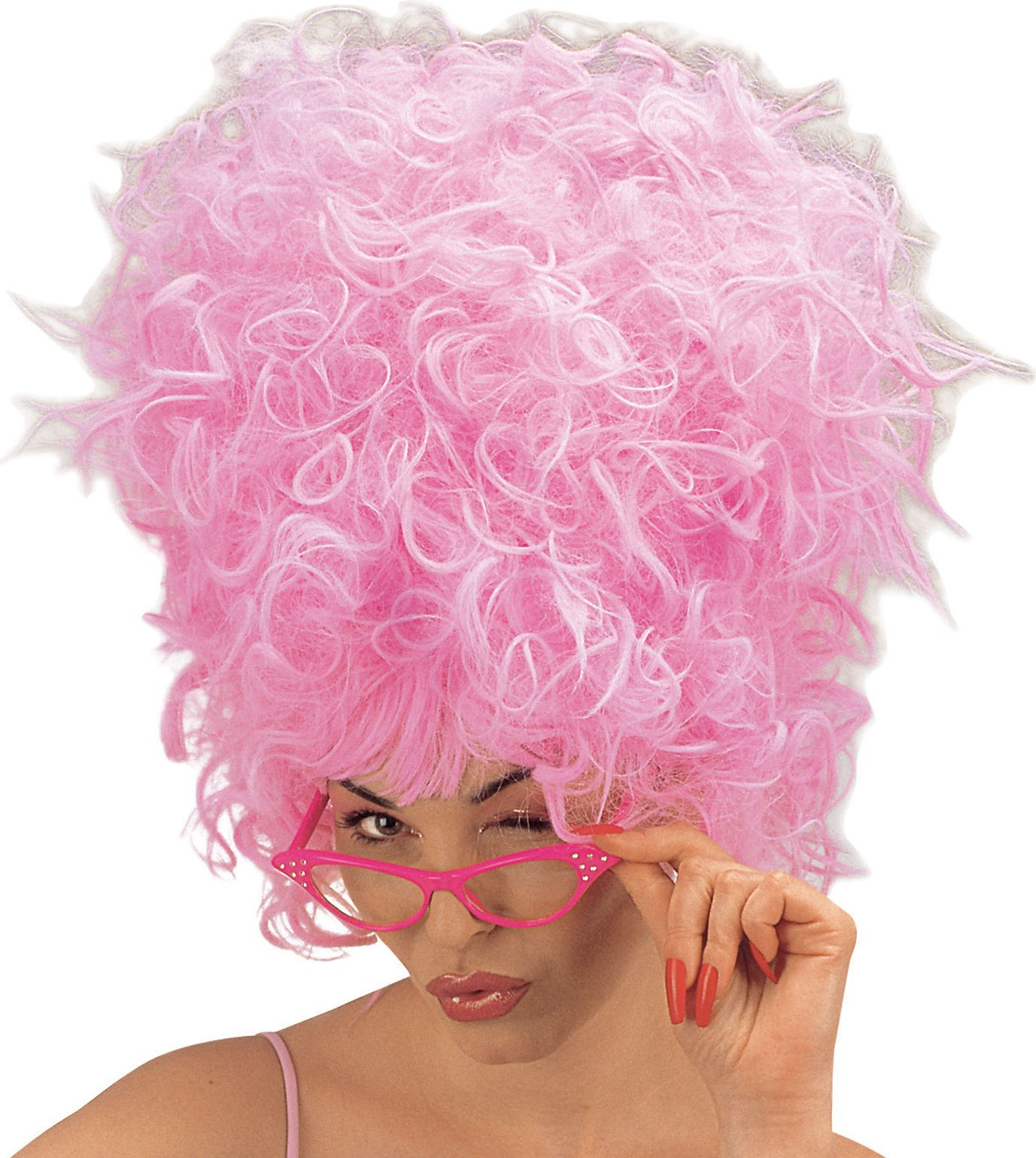Roze Priscilla pruik
