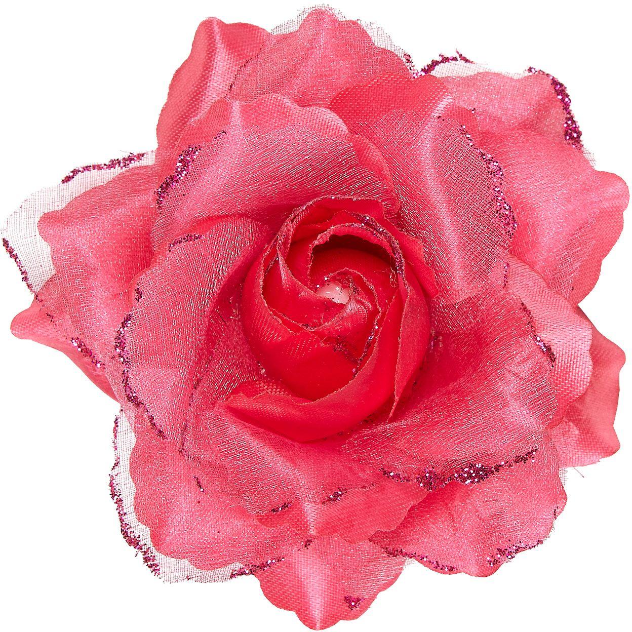 Roze roos haarclip