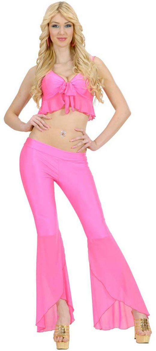 Roze samba top en broek