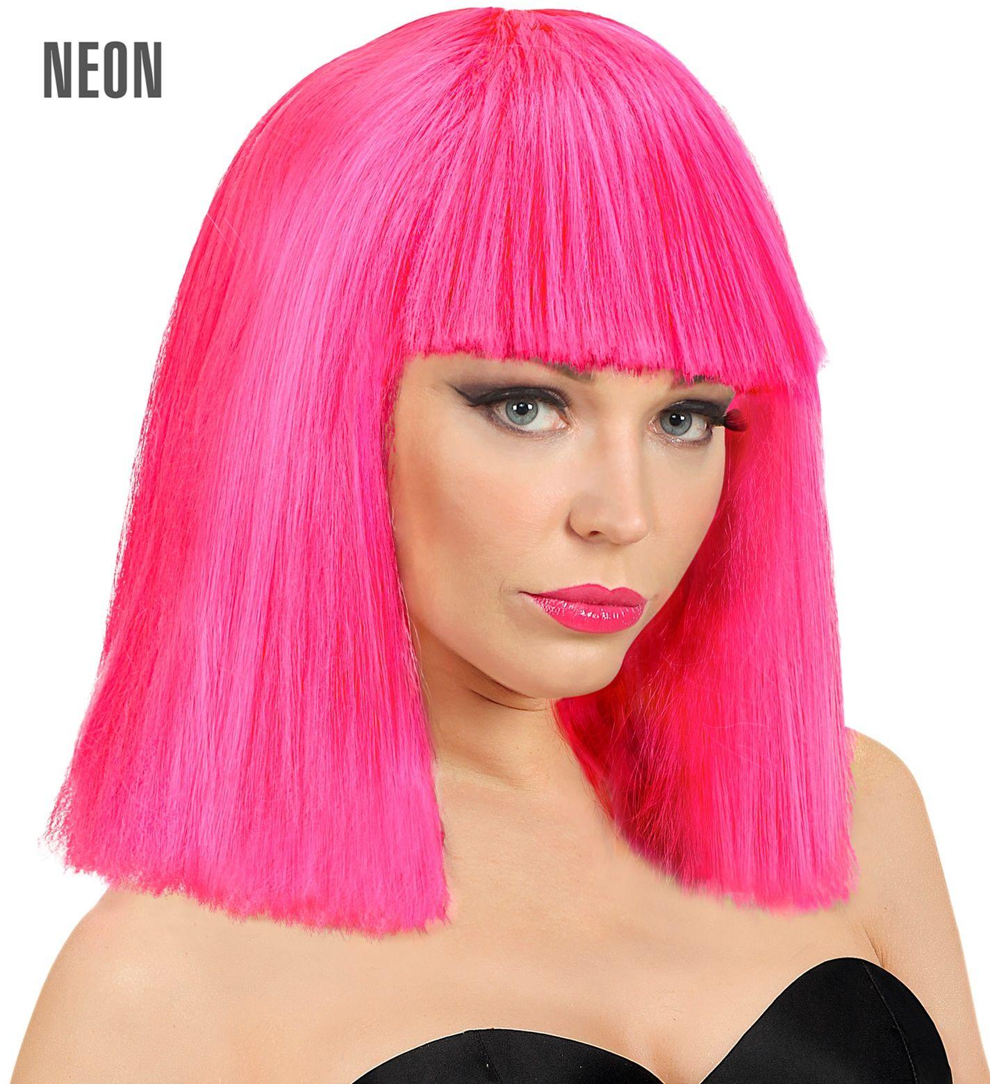 Roze Showgirl pruik