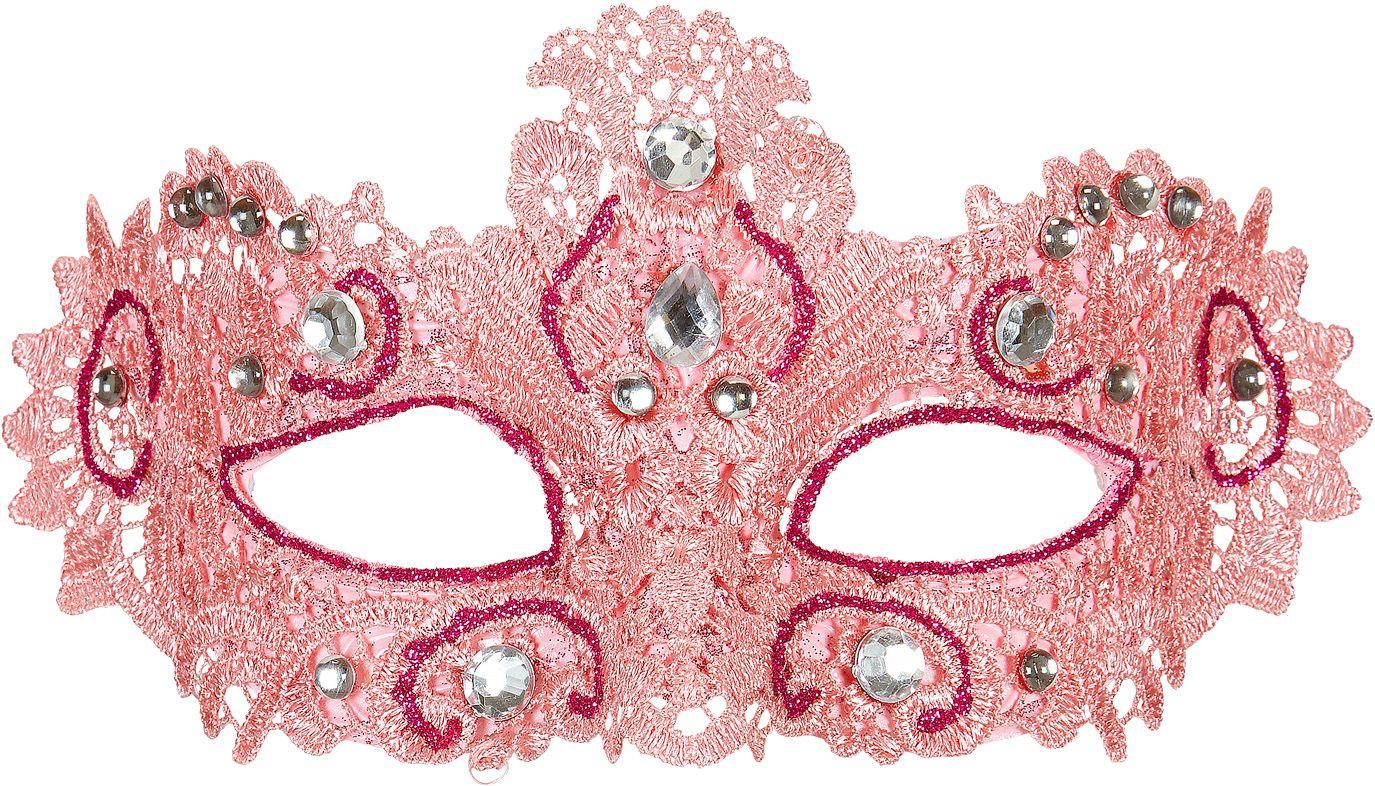 Roze venetiaans oogmasker