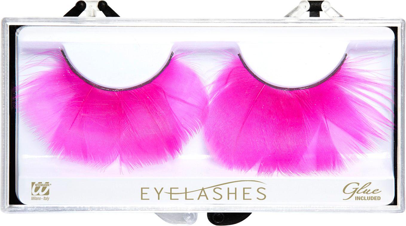 Roze veren oogwimpers