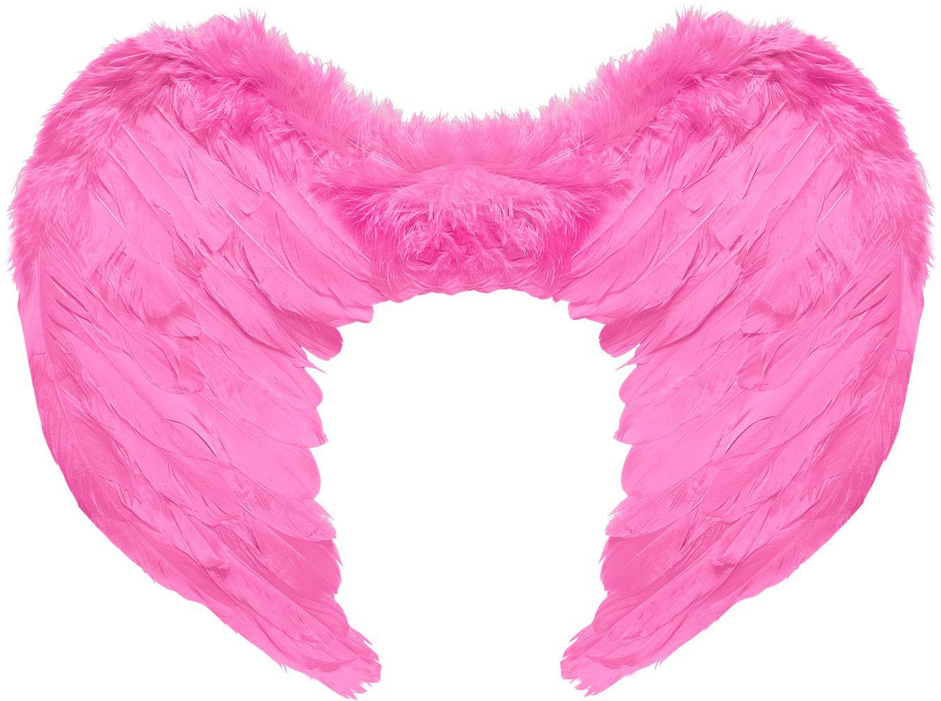 Roze veren vleugels