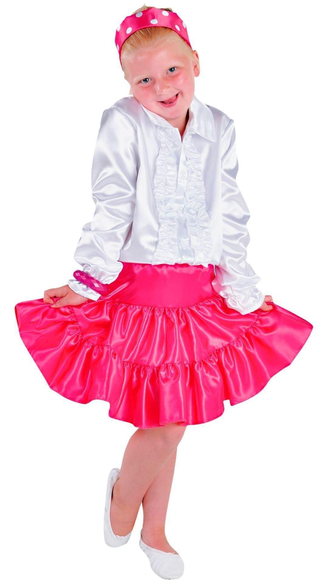 Roze volangen rok meisjes
