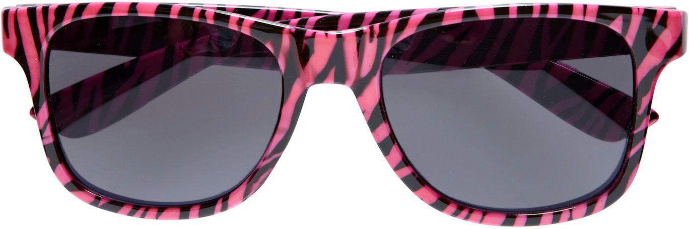 Roze zebra bril