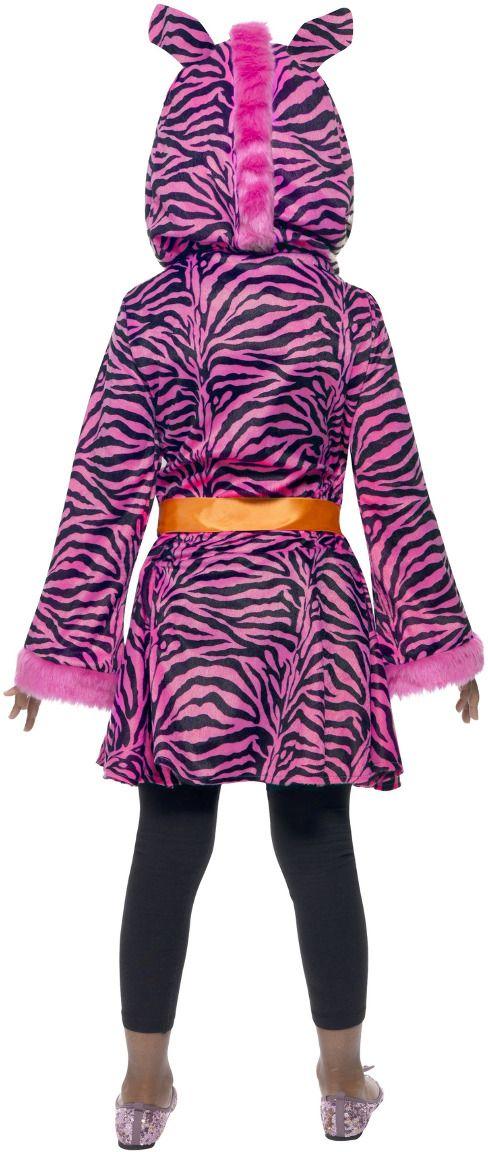 Roze zebra pakje meisjes