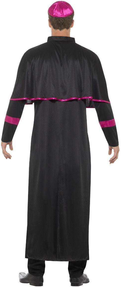 Roze zwarte kardinaal kostuum mannen