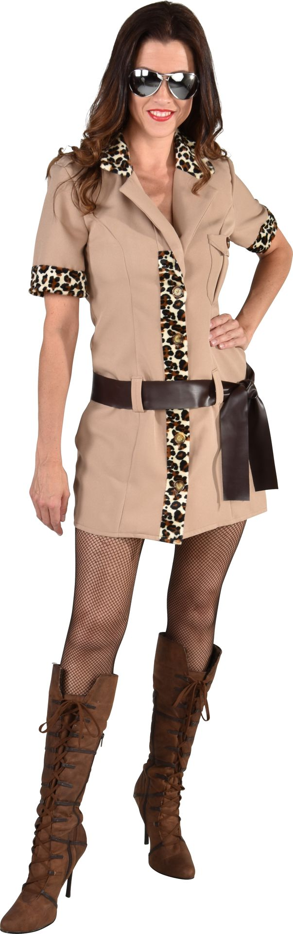 Safari girl jurk dames