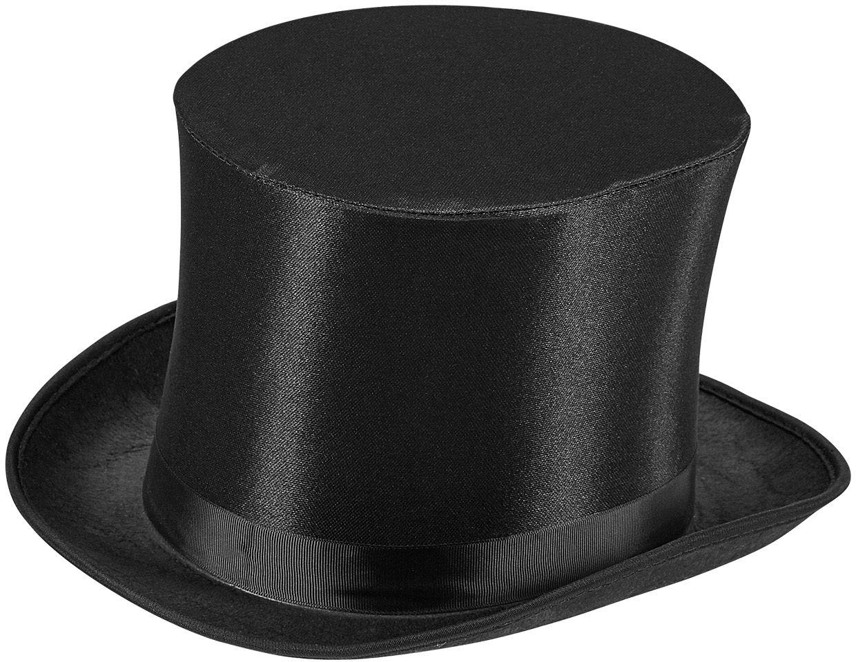 Satijnen hoge hoed