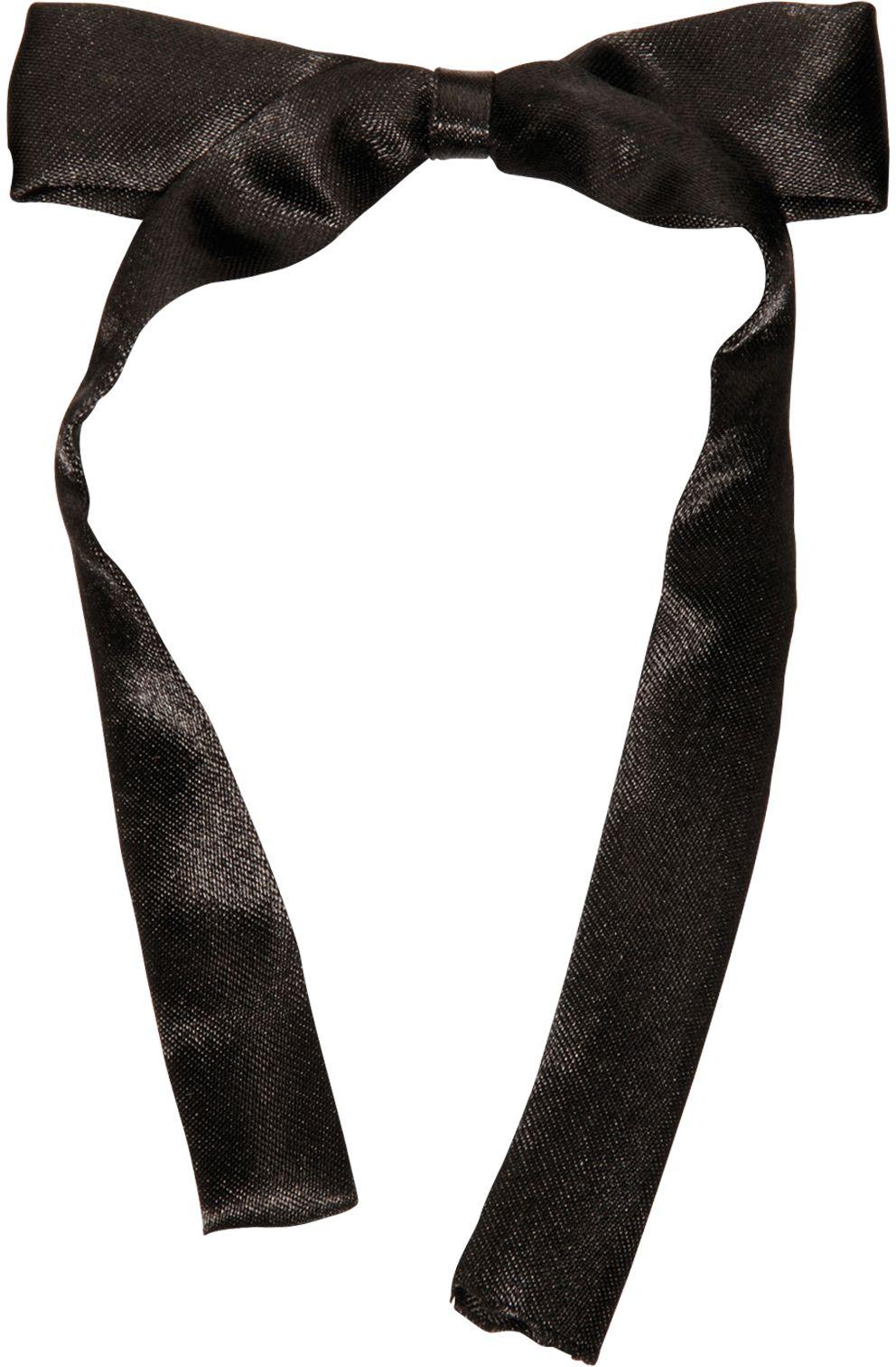 Satijnen zwarte strik