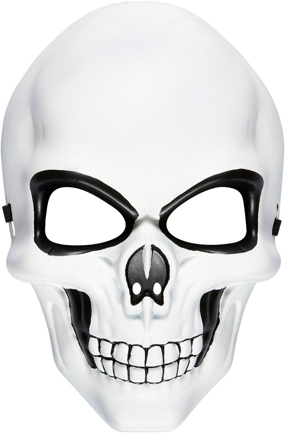 Schedel masker wit