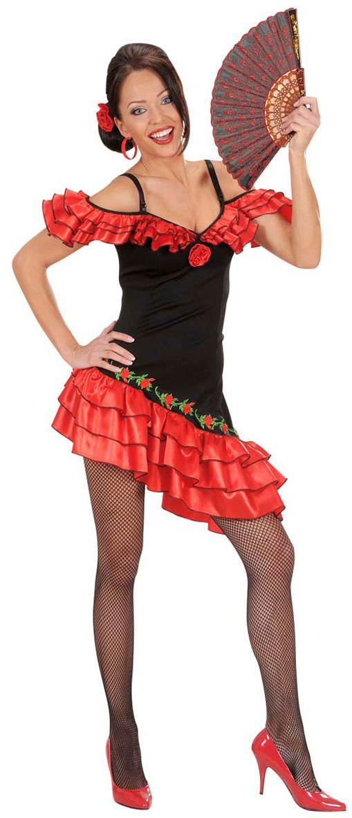 Señorita Flamenco danser kostuum