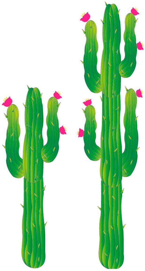 Set met 2 papieren cactussen